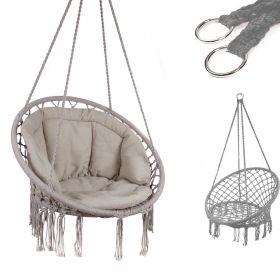 Huśtawka fotel bocianie gniazdo szara XL z poduszką szarą