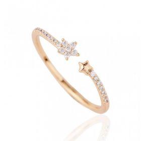 Pierścionek stal chirurgiczna platerowana złotem PST651, Rozmiar pierścionków: US6 EU11