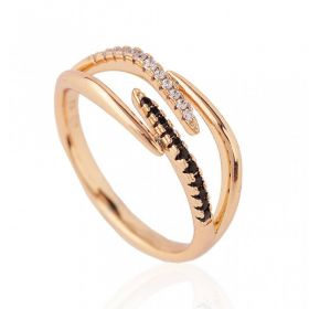 Pierścionek stal chirurgiczna platerowana złotem PST654, Rozmiar pierścionków: US8 EU17