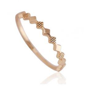 Pierścionek stal chirurgiczna platerowana złotem PST657, Rozmiar pierścionków: US9 EU20