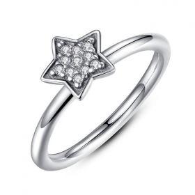 PIERŚCIONEK SREBRO925 STAR PE20, Rozmiar pierścionków: US6 EU11