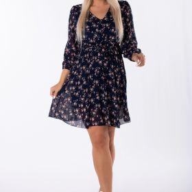 szyfonowa sukienka mini z printem