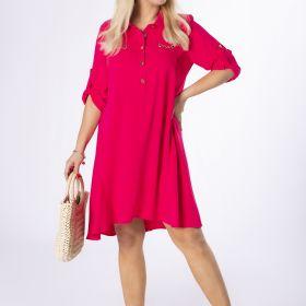 koszulowa sukienka z wiązaniem