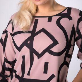 sukienka z graficznym printem