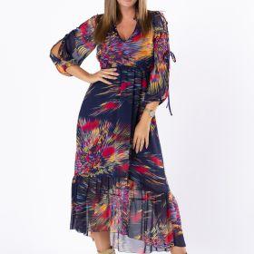sukienka  z rozcięciami na ramionach