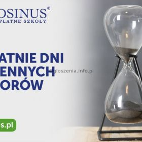 Ostatnie dni jesiennych naborów w Cosinus Kraków