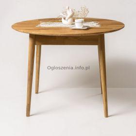 Stół dębowy Okragły rozkładany Fabio